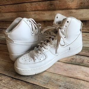 Nike Air Force One AF1 White High Tops 9.5 2016